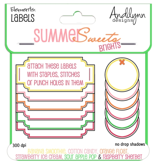 Summer Sweets–the Brights: Labels