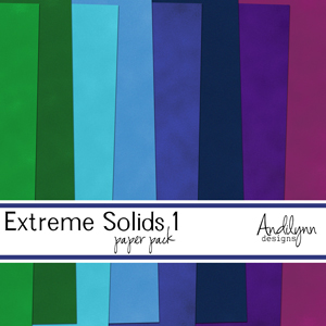 Extreme Solids Paper Pack 1 by Andilynn Designs