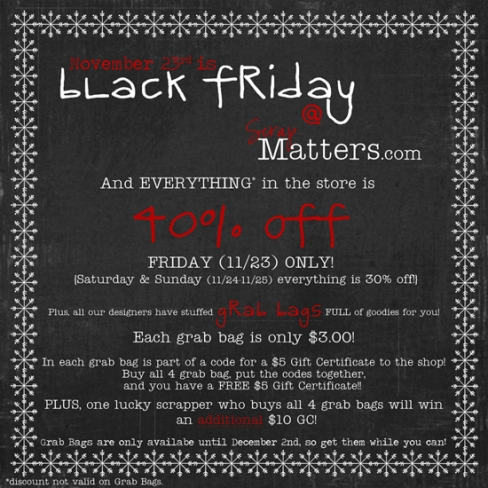ScrapMatters' Black Friday Event