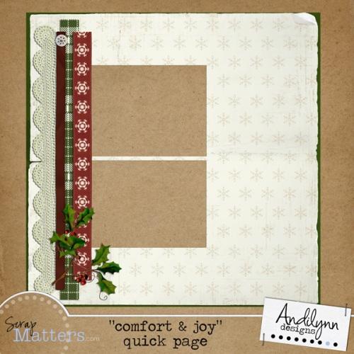 Comfort & Joy Quick Page