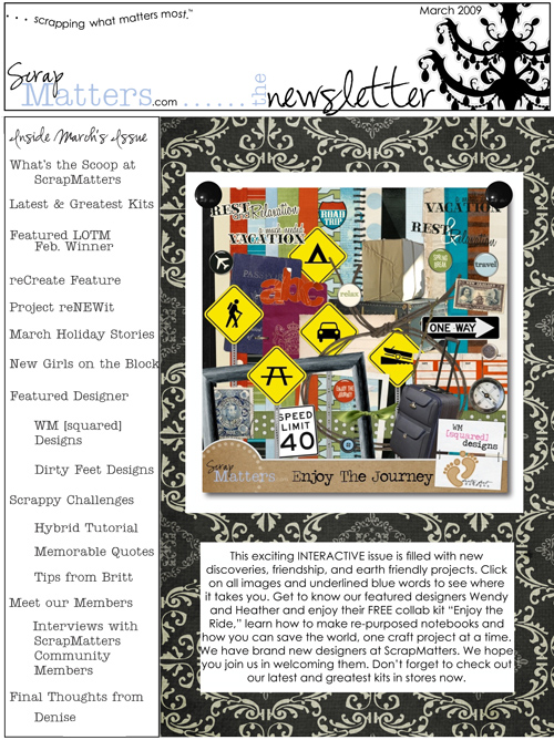 ScrapMatters March 2009 Newsletter