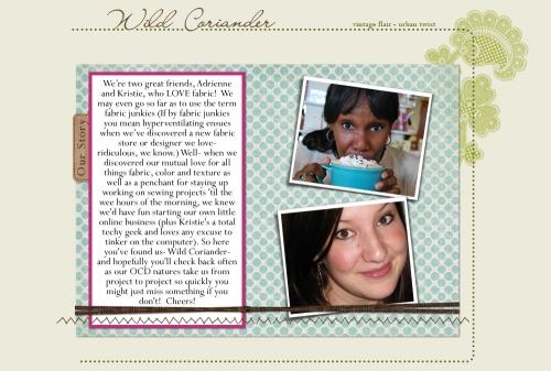 Kristie & Adrienne--a couple of my creative friends.