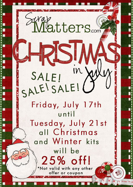 Christmas in July at ScrapMatters